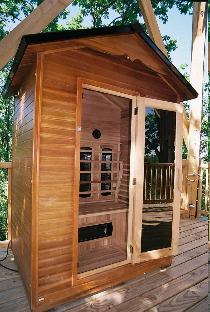 le sauna cabane perch e des ch nes du m doc. Black Bedroom Furniture Sets. Home Design Ideas